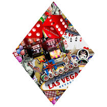 Diamond Playing Card Shape - Las Vegas Icons Background  von gravityx9