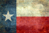 "The ""Lone Star Flag"" of the state Texas - Vintage version by Bruce Stanfield"