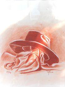 Stillleben mit Hut by Theodor Fischer