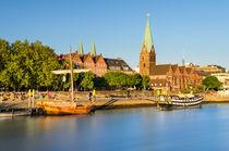 Bremen in evening light, Germany by Michael Abid