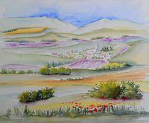 Lavendelfelder von Theodor Fischer
