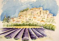 Grignan Provence by Theodor Fischer