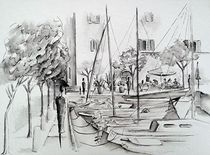 Hafen von Villa am Gardasee by Theodor Fischer