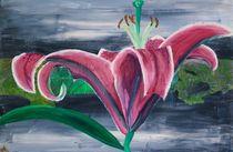 Purple Lily on Grey von yezarck