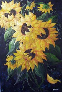 Dancing Sunflowers von eloiseart