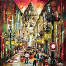 Saragossa,alfonso street spain  by Helen Bellart