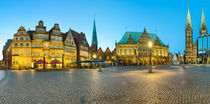 Panorama of Bremen Market Square,  Germany von Michael Abid