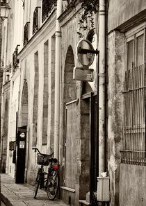 Bicycle in Paris street von Sheila Smart