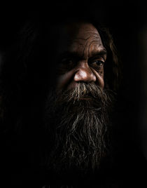 Portrait of an aborigine by Sheila Smart