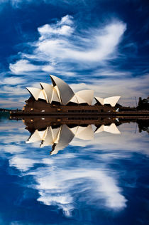 Sydney Opera House reflection abstract by Sheila Smart