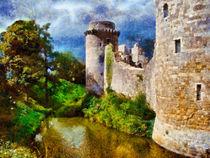 Ruine vor Gewitterwand by Uwe Karmrodt