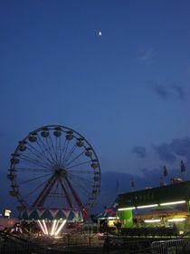 Amusement Park At Night by Guy  Ricketts