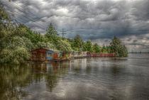 Hausboote in der Elbe von Kai-Uwe Freudenberger