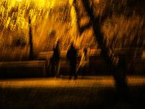 Light rain in the Night, Riga by Riccardo Valsecchi