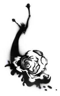 Snail Stencil von Noah Rizo-Patron