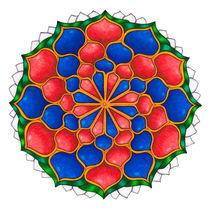 Vivian 1 Mandala Square Print by themandalalady