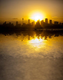 City-sunset-reflection