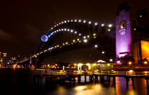 Sydney Harbour Bridge at night von Sheila Smart
