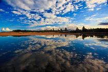 Narrabeen Lagoon with cloud reflection von Sheila Smart