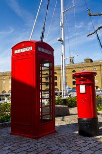Post Box Phone box von David Pyatt