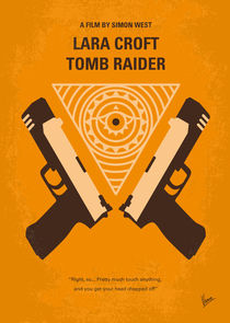 No209 Lara Croft: Tomb Raider minimal movie poster by chungkong