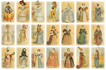 Paris fashion collage von vintage