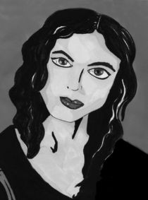 Morena Baccarin Portrait - Greyscale by Antony McGarry-Thickitt