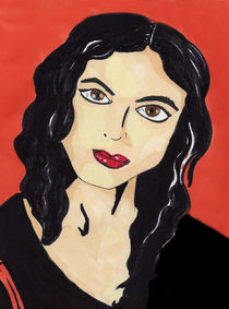 Morena Baccarin Portrait by Antony McGarry-Thickitt