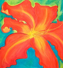 Colorful Daylily by Christine Chase Cooper