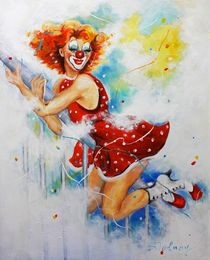 Clown Sally by Barbara Tolnay