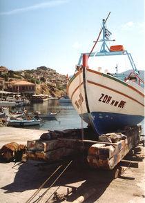 Fischerboot, Molivos, Lesvos, Griechenland by Aris Grigoriou