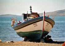 Fischerboot, Lesvos, Griechenland von Aris Grigoriou