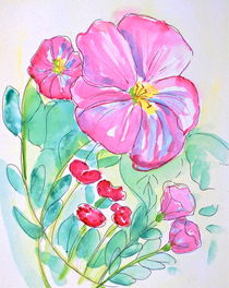 Pink Poppies by Christine Chase Cooper