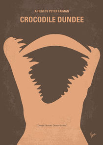 No210 My Crocodile Dundee minimal movie poster von chungkong