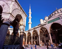 Sultan Ahmet Camii Mosque Istanbul Turkey  by Sean Burke