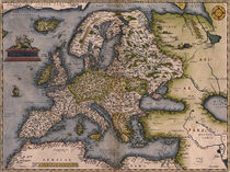 Europe Map 1572 by vintage