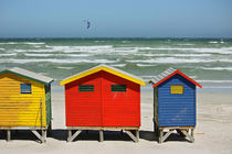 southafrica ... muizenberg beach huts I by meleah