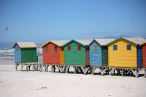 southafrica ... muizenberg beach huts IV by meleah