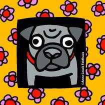 Precocious Pug by Anne Leuck Feldhaus