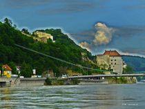 Donau Hängebrücke Passau hc by badauarts