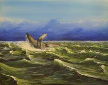 Springender Wal by Peter Schmidt