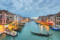 Clouds over the Grand Canal, Venice von Michael Abid