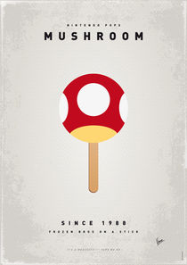 My NINTENDO ICE POP - Mushroom by chungkong