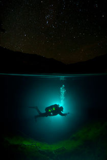 Night Diver under the Stars by Vitya Lyagushkin