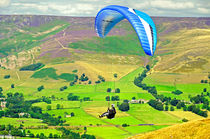 Paragliding off Mam Tor – 01 by Rod Johnson