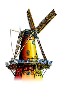 Windmill retro vintage old von Rafal Kulik