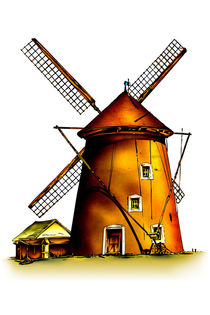 Windmill retro vintage old by Rafal Kulik