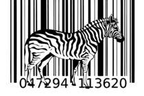zebra barcode design art idea von Rafal Kulik