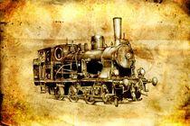 Steam engine art design drawing von Rafal Kulik
