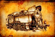 Steam engine art design drawing by Rafal Kulik